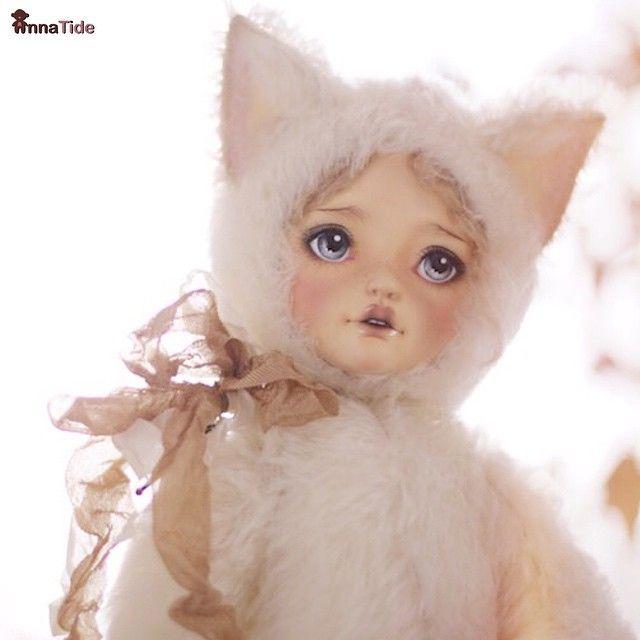 #Teddydoll Sintia (adopted/sold) ☺️❤️ #teddy #teddybear #artisttoy #artdoll…