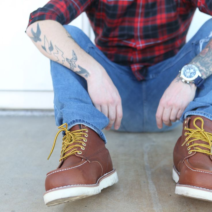 Rich full-grain leather and clean rugged sole.