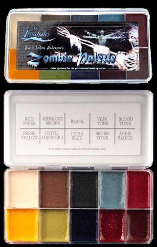 Zombie Makeup color pallet  | Skin Illustrator Zombie Palette