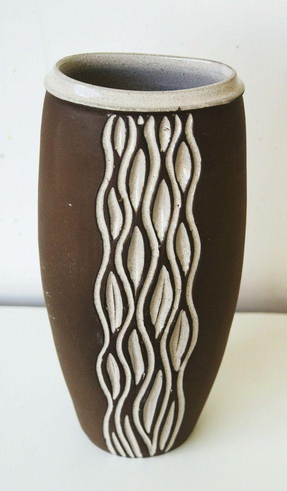 Vintage vase - Larholm keramikk. H = 24,5 cm. Største dia oppe = 10 cm. Produktbilde