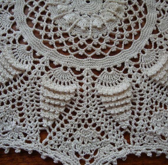 Beautiful Delicate Mini Crochet Doily made by Diane Wilson. A Patricia Kristoffersen Design. On Etsy.