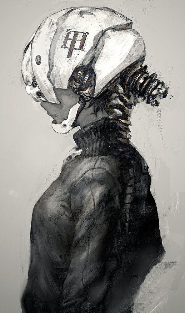 strange space helmet face mask sci-fi
