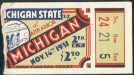 1931 at Ann Arbor: Michigan 0, Michigan State 0