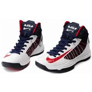 www.asneakers4u.com/ Nike Lunar Hyperdunk X 2012 Women Shoes White/Blue/Red