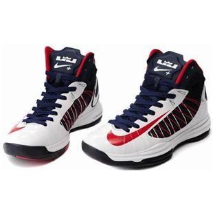 www.asneakers4u.com/ Nike Lunar Hyperdunk X 2012 Women Shoes White/Blue/Red