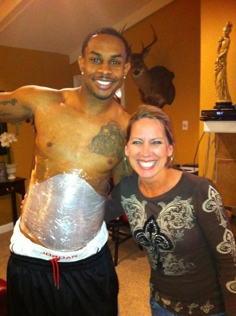 It works wrapping NFL player Robert Meachem #17 for the new Orleans Saints The Ultimate Body Applicator https://dontworrybewraphappy.myitworks.com/Home