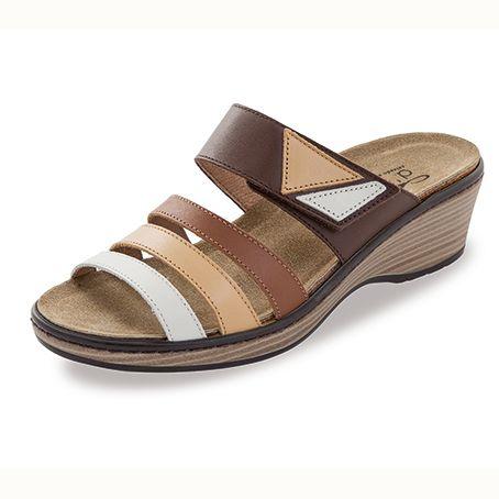 Sandalias de Piel Gijon Marron