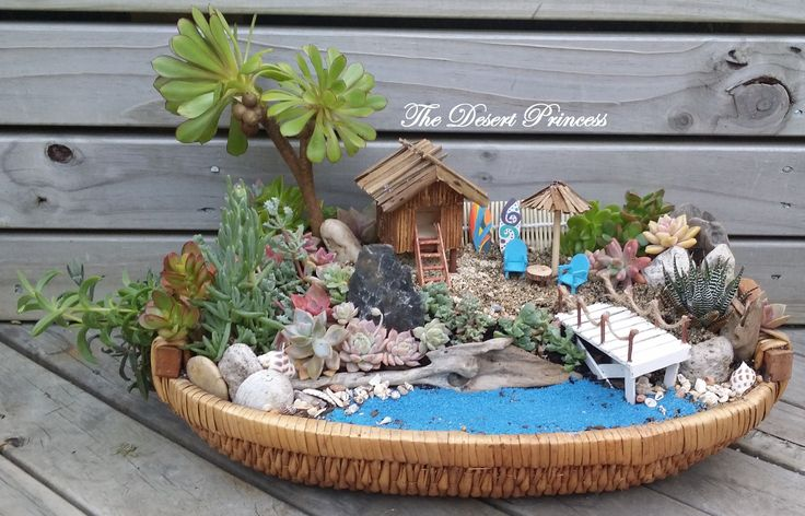Succulent Seascape Garden Design by The Desert Princess www.facebook.com/thedesertprincess1006
