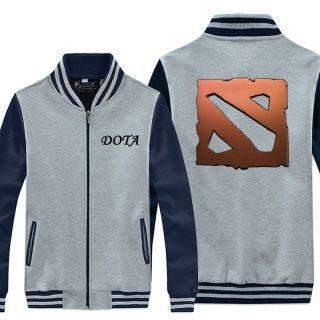 Tema Defense of the Ancients zip camisola para homens Plus Size Dota 2 jaqueta de beisebol projeto