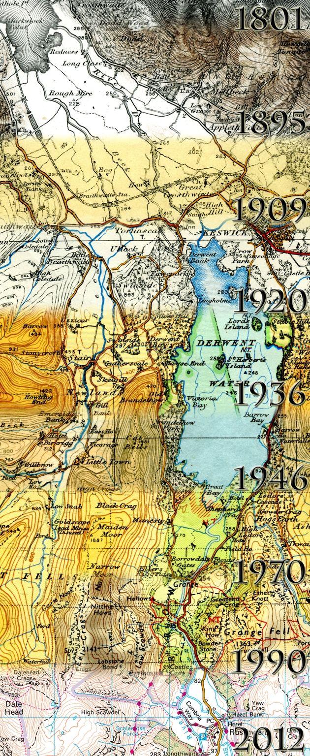 The Cartographic Evolution of Ordnance Survey maps - image by A. Karpinska