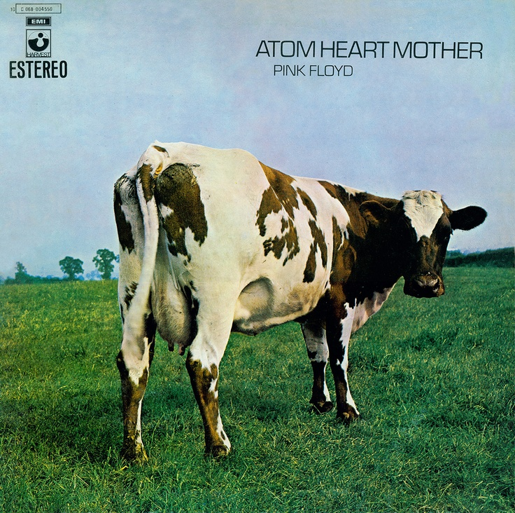 Pink Floyd: Atom Heart Mother (1970). This and other Floyd albums' sleeves were designed by the art collective Hipgnosis.
