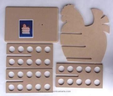 gallina porta huevos country madera porta huevos mdf