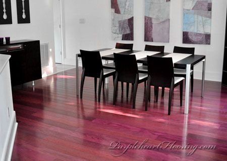 Purpleheart flooring naturally colored exotic wood for Purple heart flooring