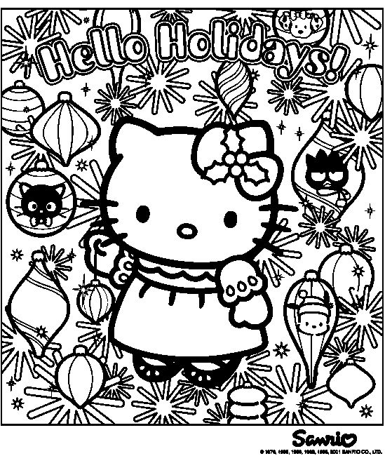 hello kitty coloring pages hello kitty christmas coloring pages 1 hello kitty forever