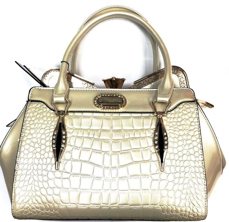 $89.99 - Brangio Italy Premium Leather Patterned Gem Handbag #Brangio #Leather #Fashion #Handbag