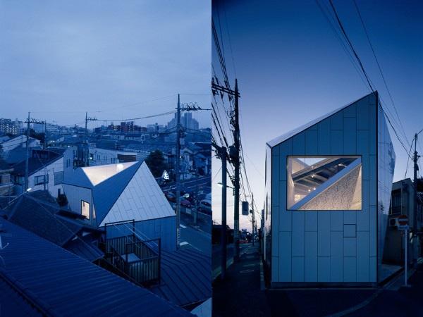 Triangle Skylight: A House 2 Jpg, Architecture Fabulous, House Design, Japanese Architecture, Single Families House, Contemporary Single Families, Home Architecture, Japan Architecture, Simple House