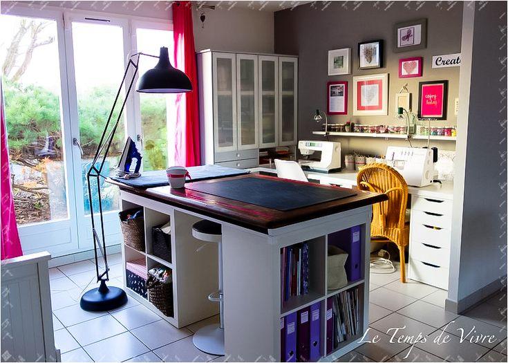 1000 id es propos de salles de couture sur pinterest l 39 organisation de la salle de couture. Black Bedroom Furniture Sets. Home Design Ideas