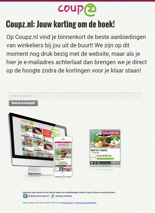 Onze site vul alvast je email adres is!