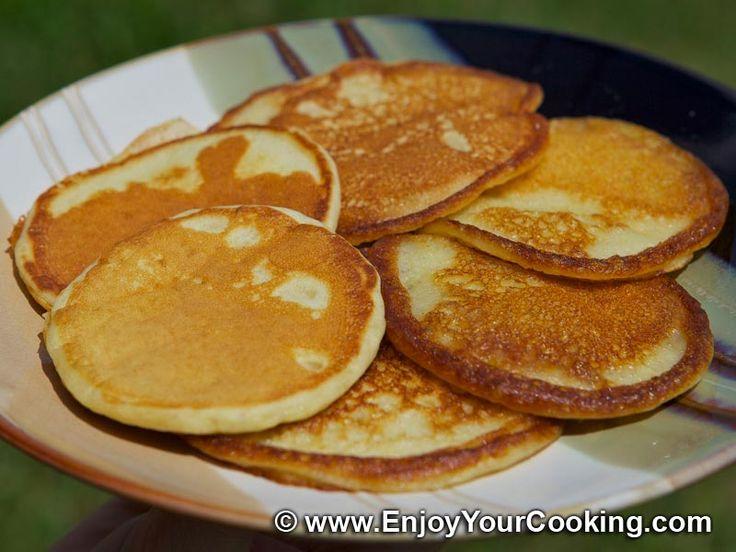 Russian recipes with photos | Russian Kefir Pancakes (Oladi) Recipe
