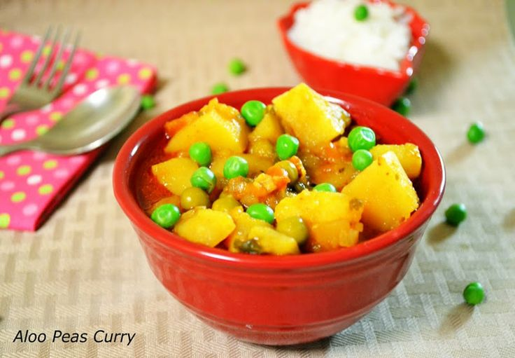 Aloo Mutter Curry / Potato Peas Curry