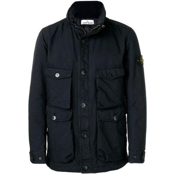 Stone Island Nylon Winter Jacket (3.495 BRL) ❤ liked on Polyvore featuring men's fashion, men's clothing, men's outerwear, men's jackets, blue, mens zip jacket, mens zipper jacket, mens blue jacket, mens patch jacket and mens nylon jacket