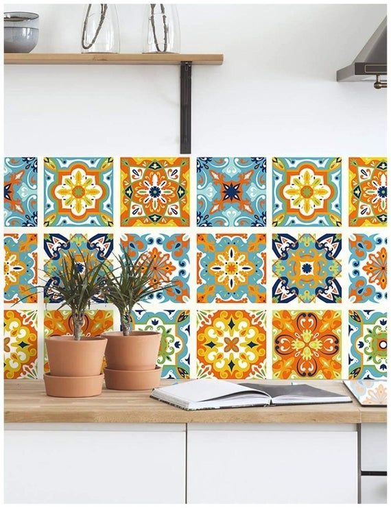 Thick Peel And Stick Tile Moroccan Tile Pattern Wallpaper Etsy Stick On Tiles Moroccan Tiles Pattern Peel And Stick Tile