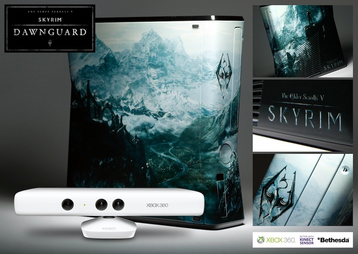 Live In France , Germany , Spain Or UK Win A Custom Skyrim Xbox 360 With Kinect