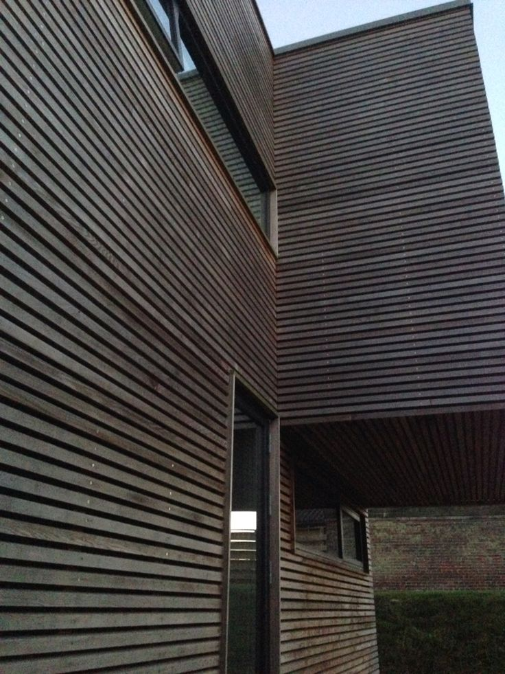 Timber clad facade by boligarkitektur.dk