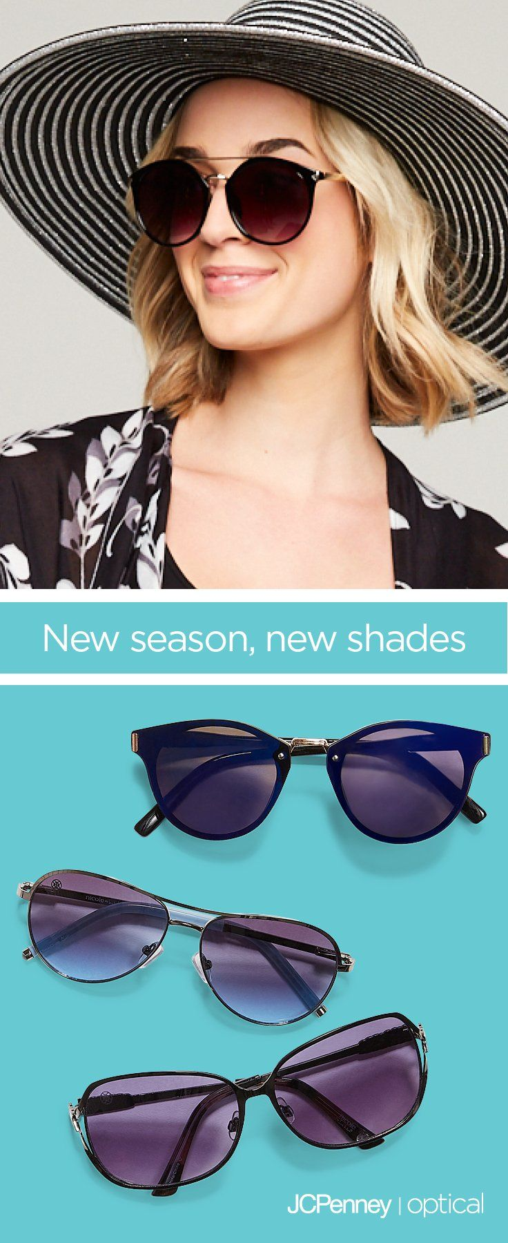 51907759eec6 Summer is here, get new sunglasses! Check out the latest Ray-Ban sunglasses,  nicole by Nicole Miller Studio sunglasses and more. No matter your face  shape, ...