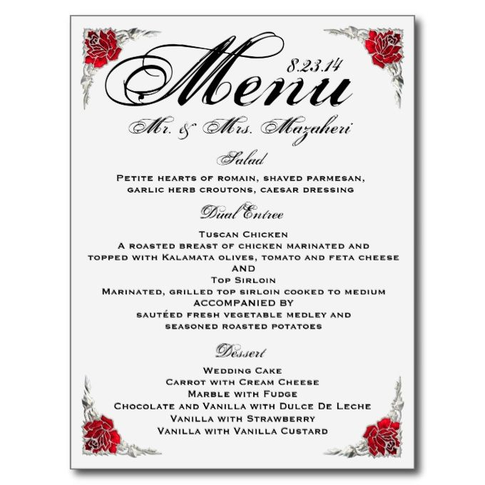 2481 best Wedding Menu Templates images on Pinterest Menu - formal dinner menu template