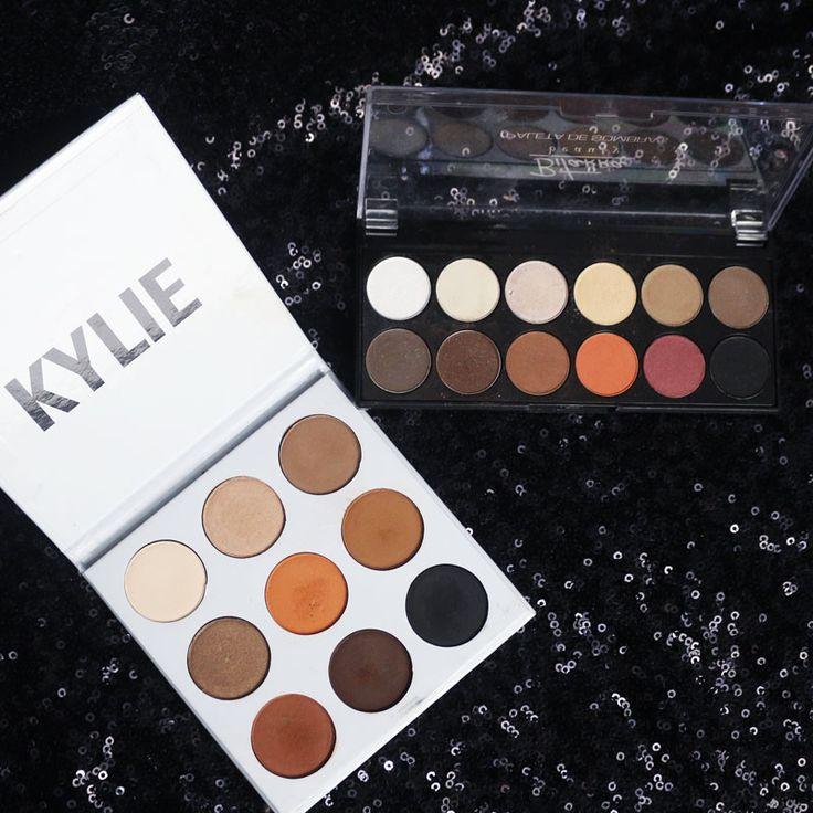 Semelhança entre a paleta de sombras da marca brasileira Bitarra e a paleta de sombras Kylie.