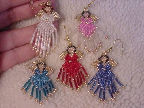 beaded angel earrings - JEWELRY AND TRINKETS#msg4665048#msg4665048#msg4665048