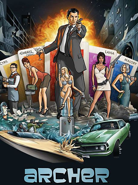 2009-present, FX What It's About: A James Bond spoof set in a spy agency populated entirely by degenerate narcissists, led by Sterling Archer, a caddish