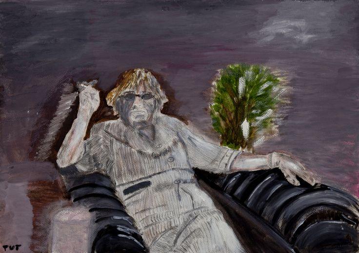 Wojciech Tut Chechliński, Matka, olej na papierze, 42 x 59,5 cm, 2011 r, sygnowany (kat. 050)