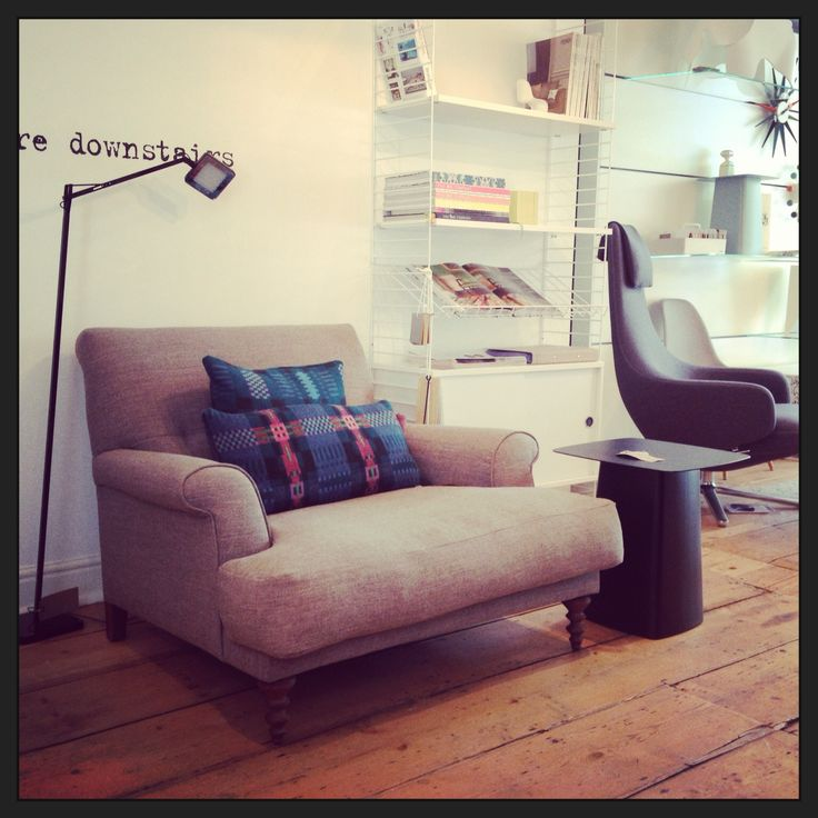 Love our showroom!!!! (http://www.cimmermann.co.uk/product/oscar_armchair/)