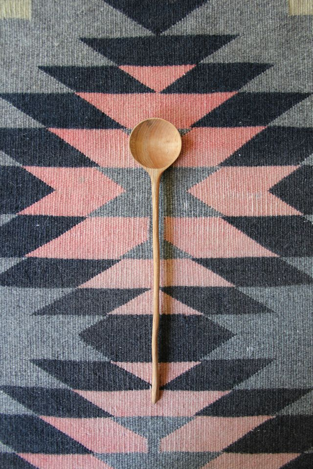 brooklyn to west spoon giveaway. I like the way this spoon is framed with a textile behind it. Great for kitchen display.