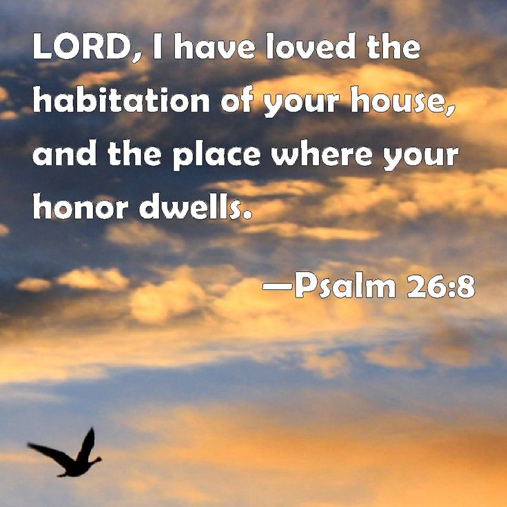 Psalm 26 and 8    -  LORD, I have loved the habitation of your house, and the place where your honor dwells.