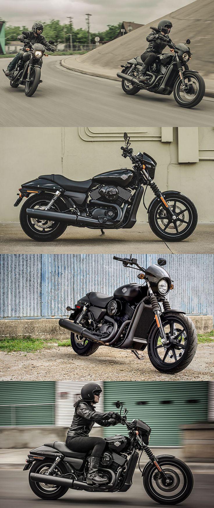 Take on traffic in style. #HDStreet 750 & 500. | Harley-Davidson #DarkCustom