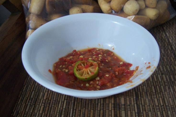 my own fresh sambal. its HOT!