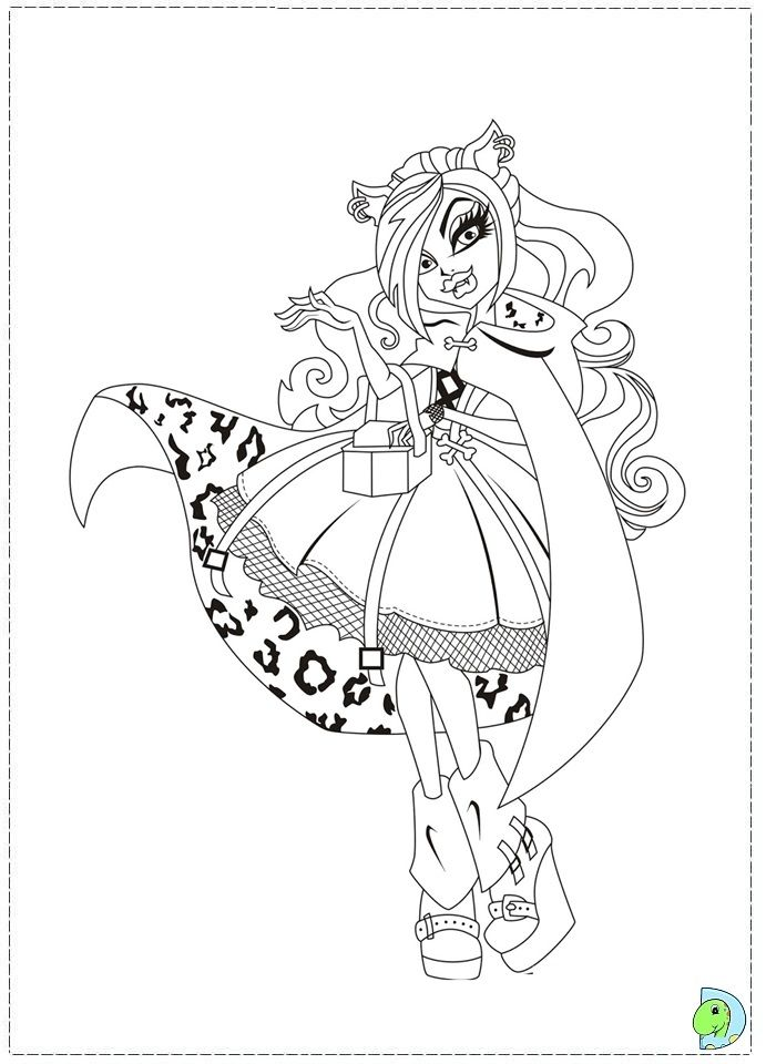Cool Coloring Pictures Of Monster High Dolls Free Download