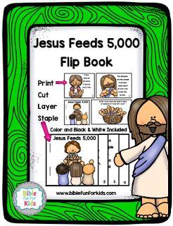 #Jesus Feeds the 5,000 lesson, ideas and printables #Biblefun #NTBiblelesson #preschoolbiblelessons #lifeofjesus