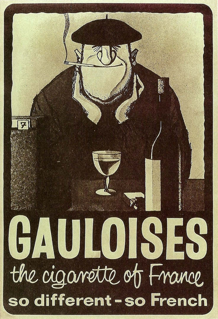Gauloises and wine