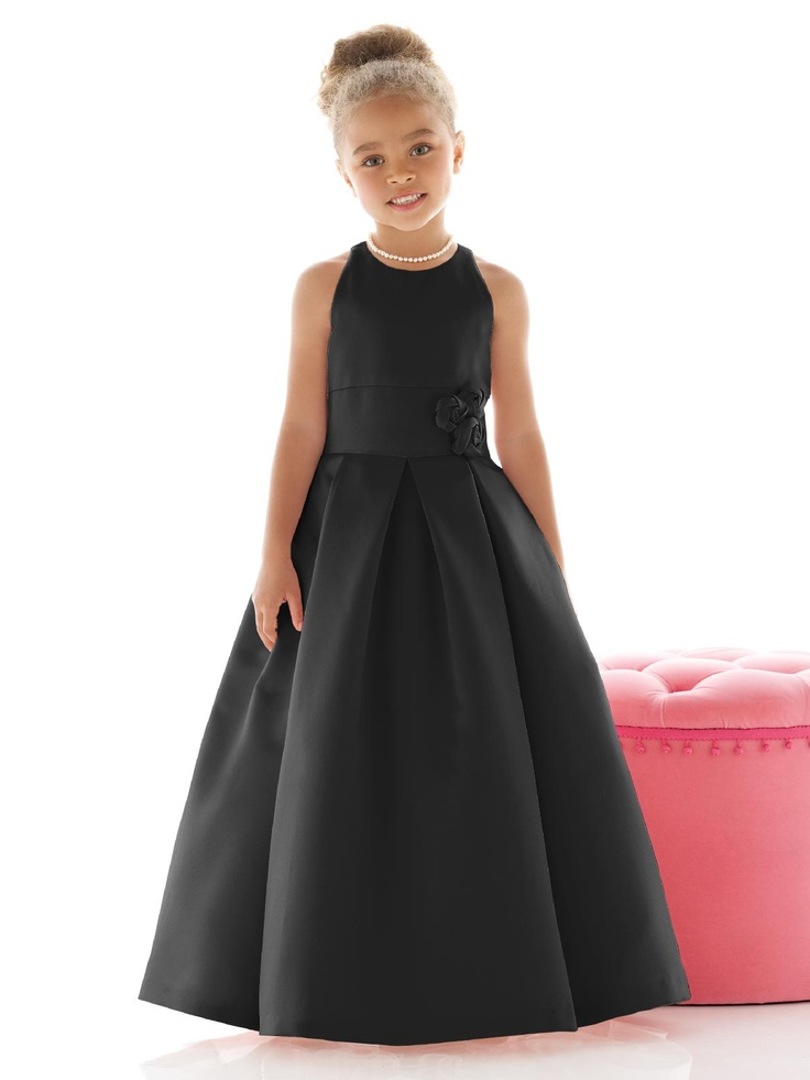Black Wedding Flower Girl Dress  fashion dresses