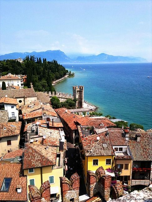 13th century castle, town of Sirmione and Lake Garda @GardaConcierge
