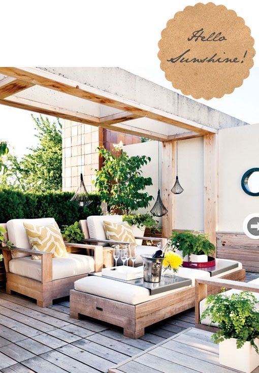 Outdoor furniture inspiration - ottoman coffee table