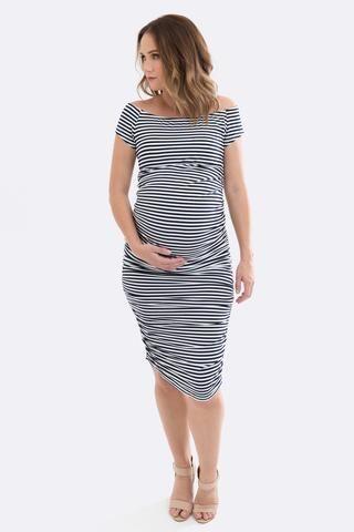 Maternity Off-Shoulder Dress - $59 AU