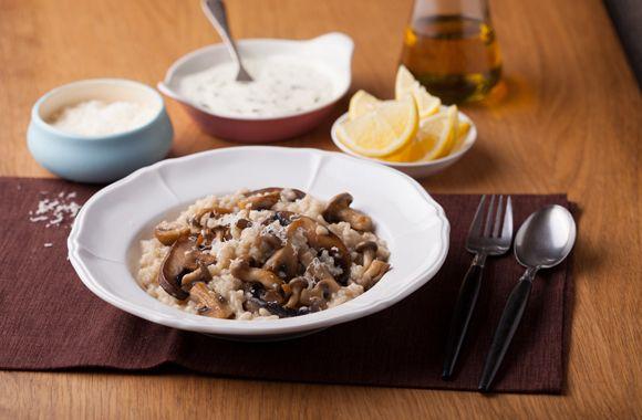 Risotto med svampe og hvidløg