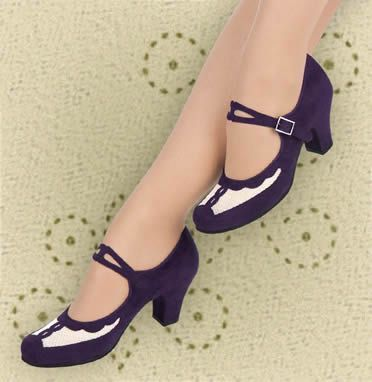Aris Allen Indigo and Ivory 1940s Velvet and Mesh Mary Jane Swing Dance Shoe pretty vintage style shoes built for dancing the night away could just be added as a wardrobe essential for my everyday office wear Alice