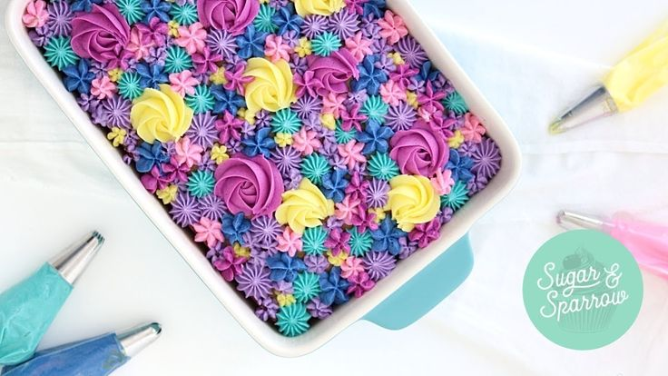 Wie man einen geblümten Blechkuchen macht – YouTube   – Dessert