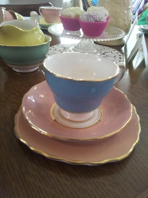 we have this immaculate 24 piece pastel china tea set for only £55 :)